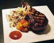 Grilled Cider Brined Pork Chop - Blue Point