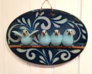 Bird Family Plaque - SeaDragon Gallery