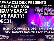 New Year's Eve Party With Purple Masquerade