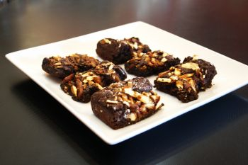 Sweet T's Coffee, Beer & Wine, Homemade Caramel Pretzel Brownies