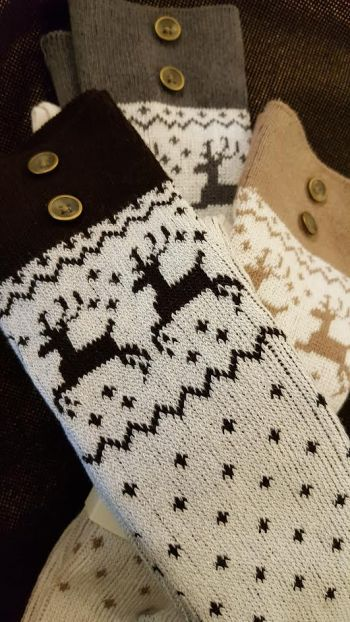 Lady Victorian Duck NC Fashion, Festive Boot Socks