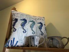 Vicki Lowe Seahorse Pillow