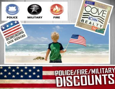 Military | Fire | Police | Discounted Nags Head Beach Rentals